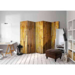 Paravent Bambus Wohnzimmer Paravent Trennwand Bambus Bro Sichtschutz Sunshine Gastronomie Garten Bett