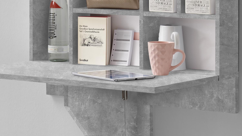 Full Size of Küche Klapptisch Mit Regal Arto 2 Wandklapptisch In Betonoptik Wei Werkbank Nobilia Türkis Fliesenspiegel Glas Kleine Einbauküche Eckunterschrank Erweitern Wohnzimmer Küche Klapptisch