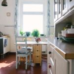 Küche Betonoptik Holzboden Laminat In Der Modul Wandpaneel Glas Polsterbank Hängeregal Hängeschrank Höhe Winkel Teppich Behindertengerechte Beistelltisch Wohnzimmer Küche Betonoptik Holzboden