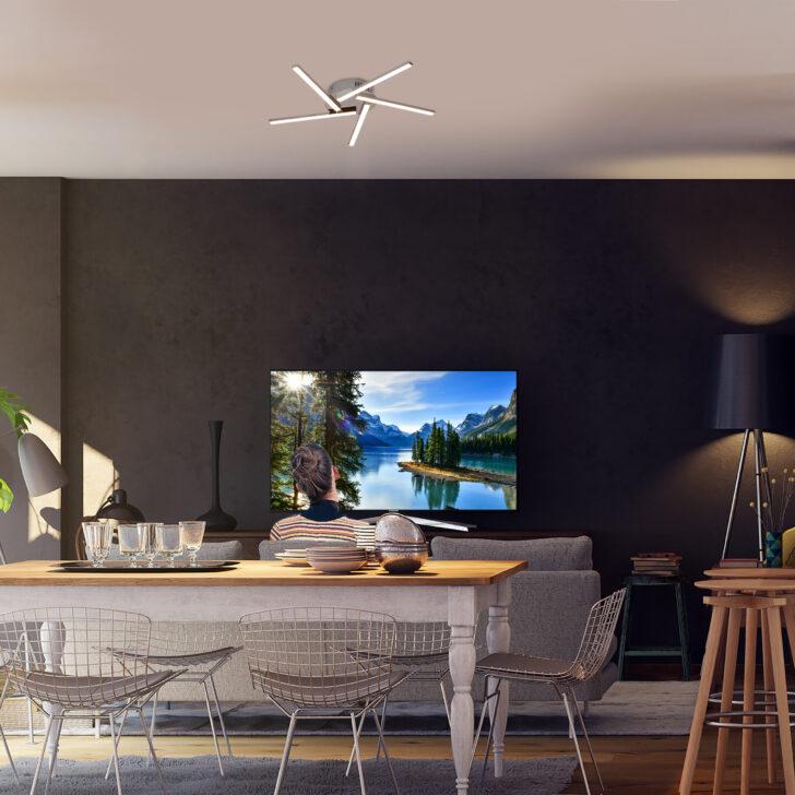 Medium Size of Wohnzimmer Led Deckenleuchte Liege Tapete Bilder Modern Küche Deckenlampen Moderne Indirekte Beleuchtung Echtleder Sofa Landhausstil Gardinen Für Mit Kommode Wohnzimmer Wohnzimmer Led