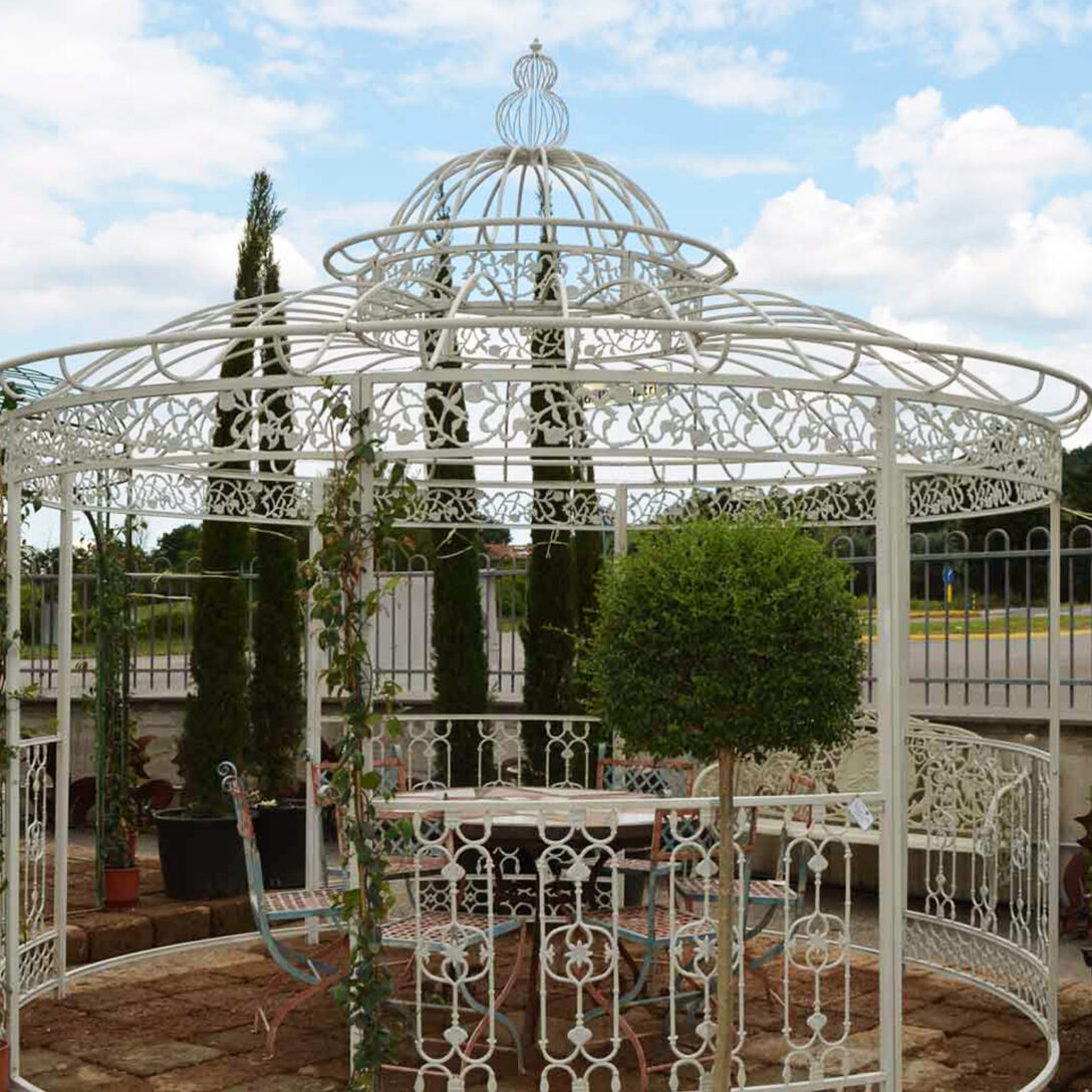 Large Size of Pavillon Aus Eisen Pietre E Arredi Giardino Antiquitten Garten Wohnzimmer Pavillon Eisen