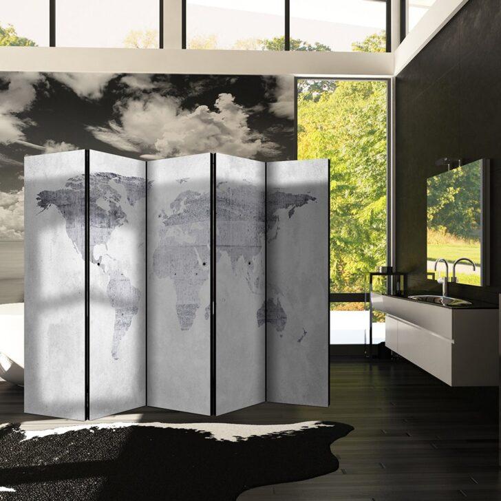 Medium Size of Decomonkey Raumteiler Paravent Beidseitig Xxl Weltkarte 225x172 Cm Garten Bauhaus Fenster Wohnzimmer Paravent Bauhaus