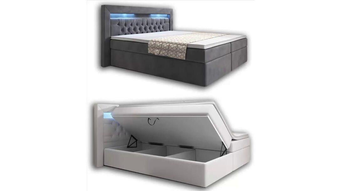 Large Size of Wohnenluxus Boxspringbett 160x200 Grau Samt York Bettkasten Schlafzimmer Set Mit Sofa Wohnzimmer Boxspringbett Samt