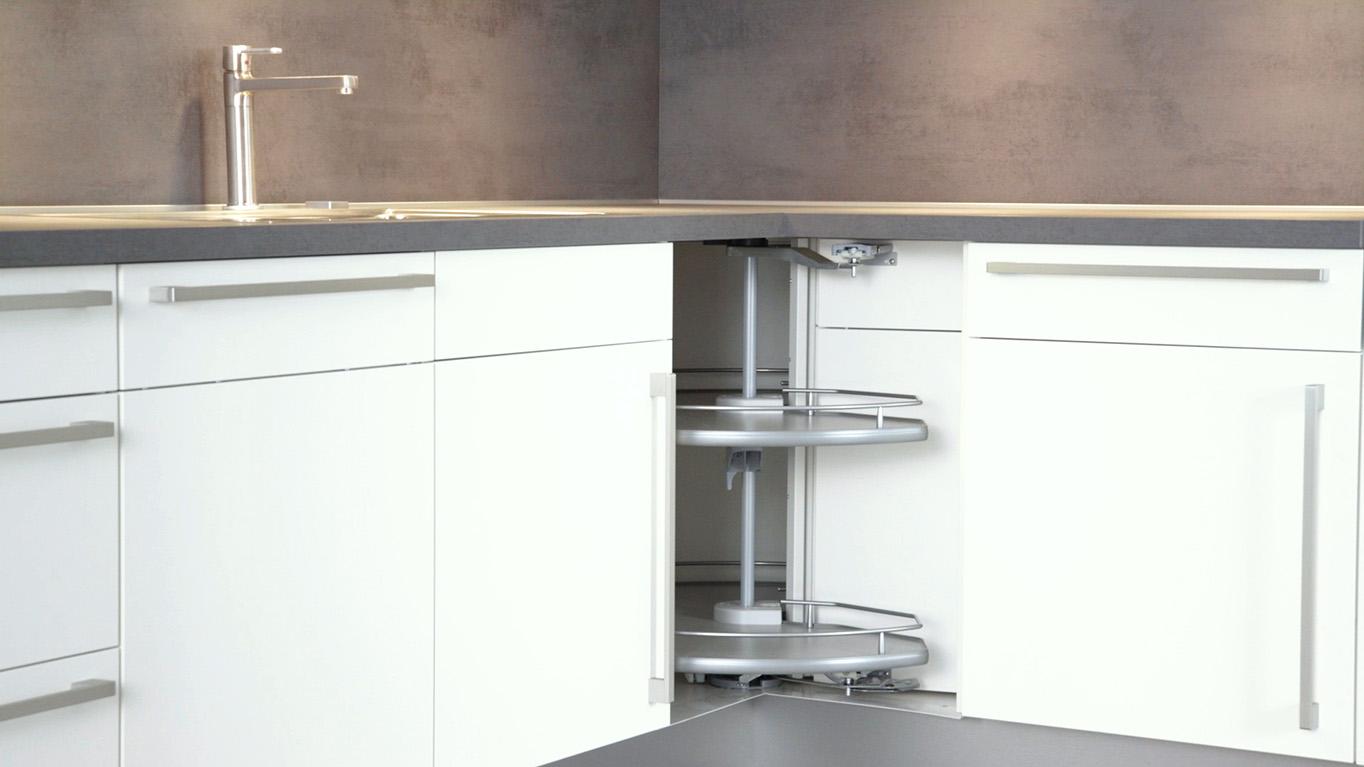 Full Size of Montagevideo Karussellschrank Nobilia Kchen Miniküche Mit Kühlschrank Küche Industriedesign Blende Wandpaneel Glas Raffrollo Sitzecke Unterschrank Wohnzimmer Küche Eckschrank Rondell
