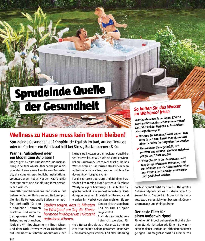 Large Size of Whirlpool Bauhaus Aufblasbar Intex Outdoor Garten Deutschland Miami Family Badewanne Angebot Lay Z Spa Aussen Aktueller Prospekt 0410 31012020 144 Jedewoche Wohnzimmer Whirlpool Bauhaus