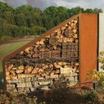Holzlege Cortenstahl Kaminholzregale Aus Metall Wohnzimmer Holzlege Cortenstahl