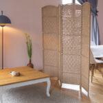 Paravent Bambus Wohnzimmer Paravent Bambus Trennwand Raumtrenner Spanische Wand 4 Teilig 180 Garten Bett