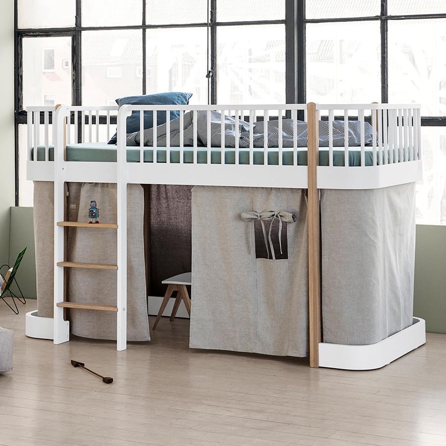 Full Size of Halbhohes Hochbett Oliver Furniture Wood Wei Eiche Leiter Vorne Bett Wohnzimmer Halbhohes Hochbett