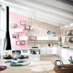 Wandfarbe Rosa Wohnzimmer Wandfarbe Rosa Pastelltne In Der Kche So Integrieren Sie Eiscremefarben Zu Hause Küche