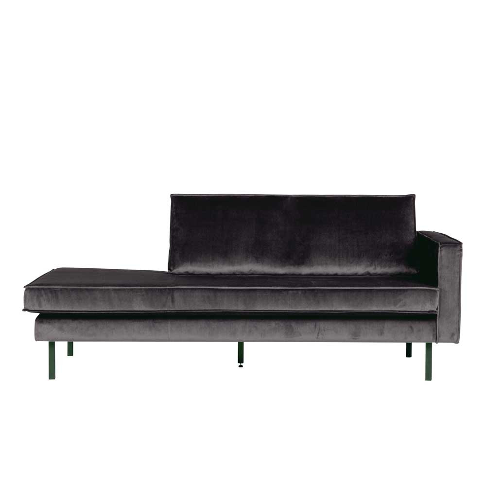 Full Size of Recamiere Samt In Anthrazit Mit Bezug 206cm Breit Ertrego Wohnende Sofa Wohnzimmer Recamiere Samt