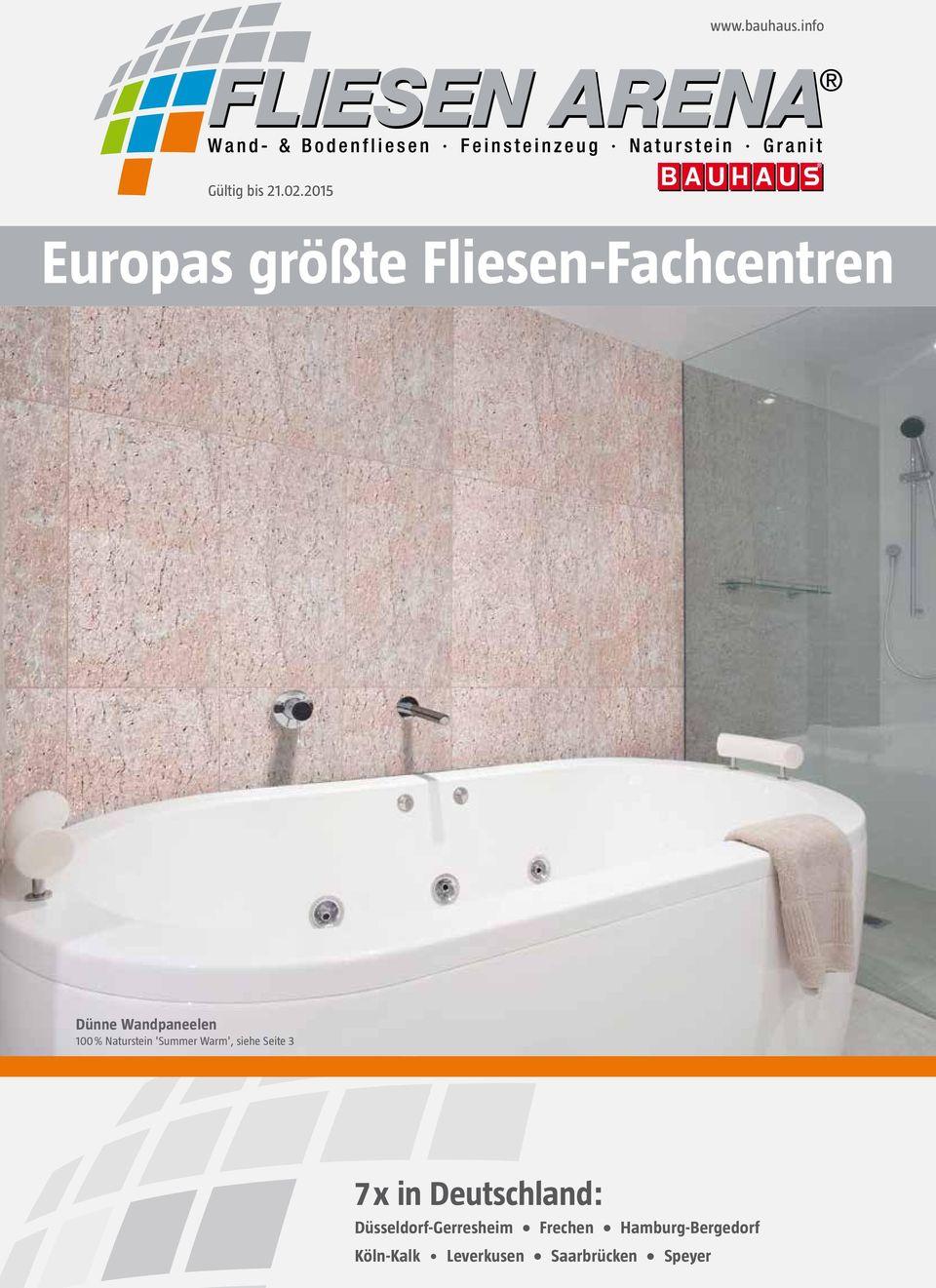 Full Size of Bodenfliesen Bauhaus Europas Grte Fliesen Fachcentren Pdf Kostenfreier Download Bad Küche Fenster Wohnzimmer Bodenfliesen Bauhaus