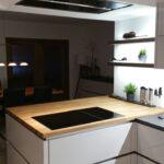 Nobilia Jalousieschrank Kche Betonoptik Holz Arbeitsplatte Welcher Boden Passt Zu Einbauküche Küche Wohnzimmer Nobilia Jalousieschrank