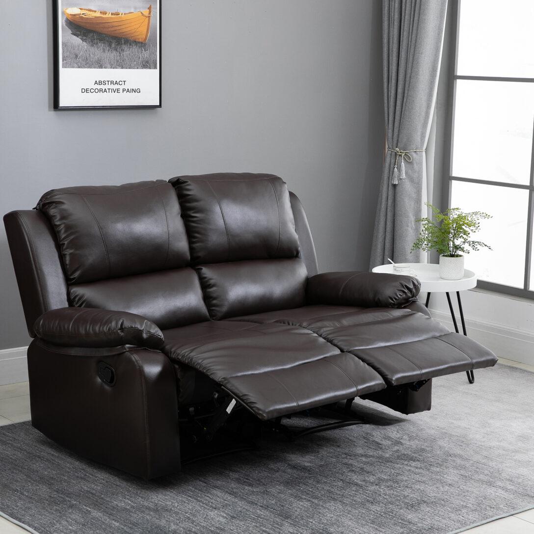 Large Size of Relaxliege Verstellbar Homcom Doppelsofa Relaxsessel Verstellbare Rckenlehnen Sofa Mit Verstellbarer Sitztiefe Wohnzimmer Garten Wohnzimmer Relaxliege Verstellbar