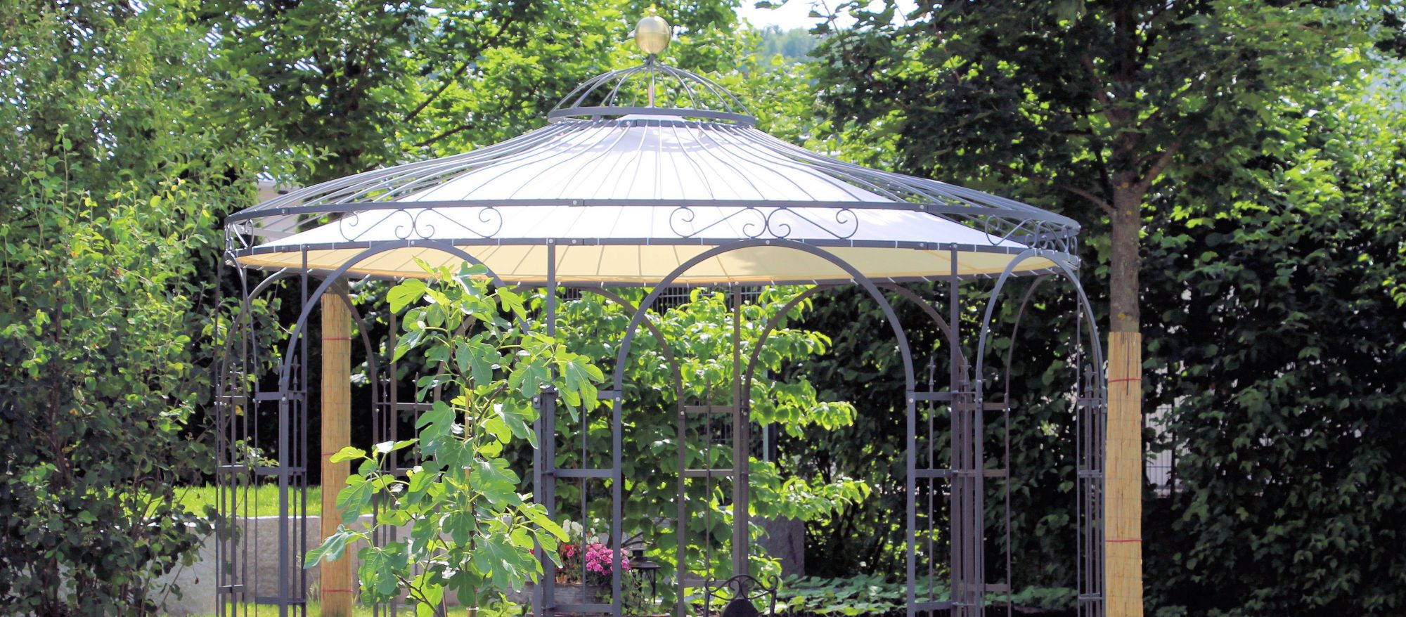 Full Size of Pavillon Eisen Gartenlauben In Edlem Design Online Kaufen Bei Eleo Garten Wohnzimmer Pavillon Eisen