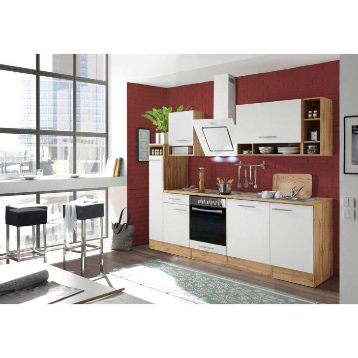 Medium Size of Hängeregal Kücheninsel Respekta Kchenzeile 250 Cm Wei Wildeiche Nachbildung Glnzend Küche Wohnzimmer Hängeregal Kücheninsel