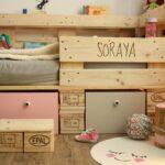 Kinderbett Stauraum Palettenbett Fr Aus Europaletten Diy Bett Mit 200x200 160x200 140x200 Betten Wohnzimmer Kinderbett Stauraum