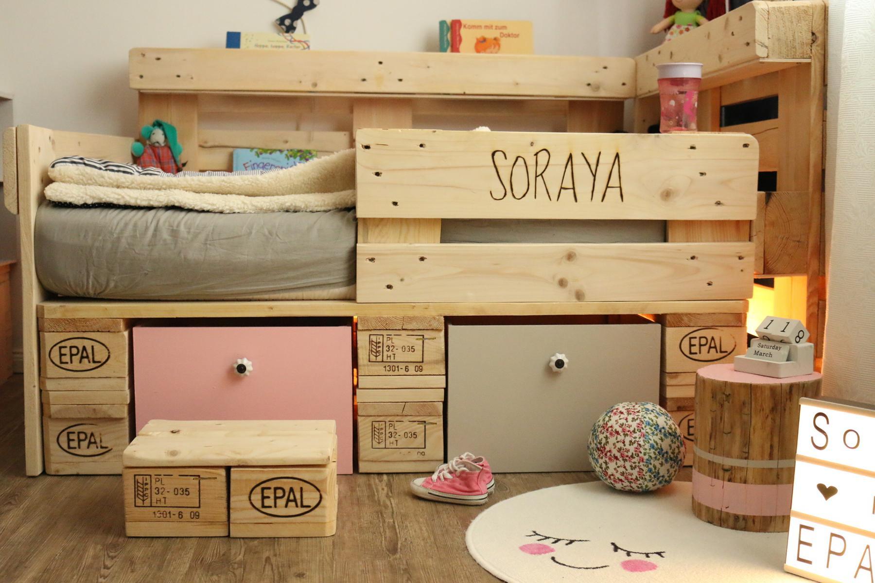 Full Size of Kinderbett Stauraum Palettenbett Fr Aus Europaletten Diy Bett Mit 200x200 160x200 140x200 Betten Wohnzimmer Kinderbett Stauraum