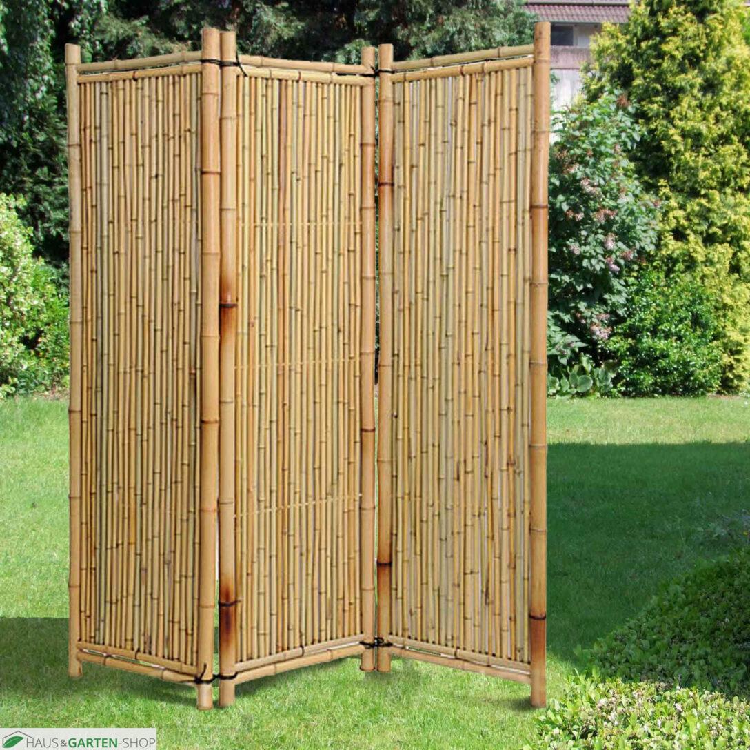 Large Size of Paravent Bambus Balkon Bambusparavent Deluxe Natur Ein Natrlicher Sichtschutz Garten Bett Wohnzimmer Paravent Bambus Balkon