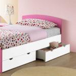Mädchenbetten Wohnzimmer Mädchenbetten Mdchen Betten 90x200 Bett In Wei Pink Mit Stauraum