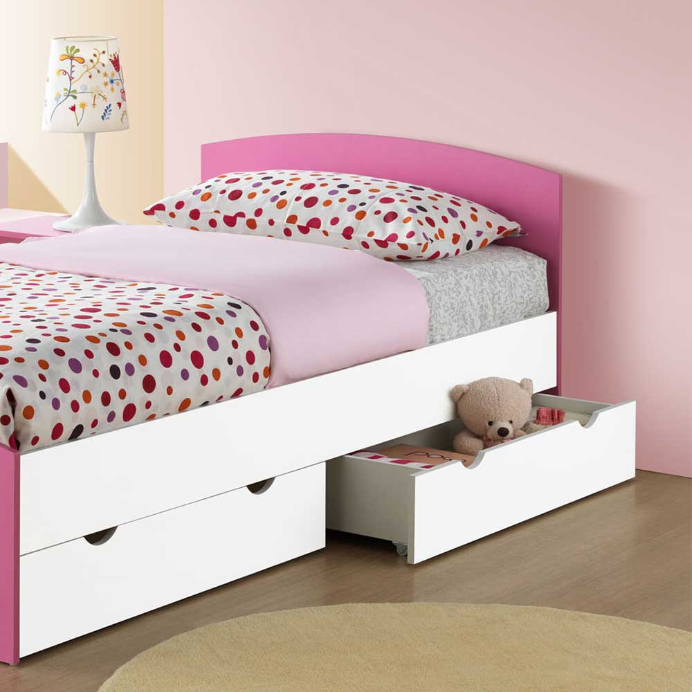 Full Size of Mädchenbetten Mdchen Betten 90x200 Bett In Wei Pink Mit Stauraum Wohnzimmer Mädchenbetten