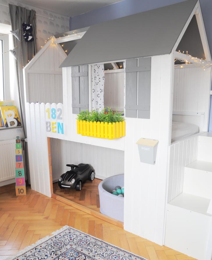 Medium Size of Ikea Kinderbett Haus Hausbett Kura Kinder 90x200 Hack Diy Anleitung Zum Bau Eines Hacks Mit Treppe Bett Sofa Schlaffunktion Modulküche Kinderzimmer Regale Wohnzimmer Hausbett Kinder Ikea