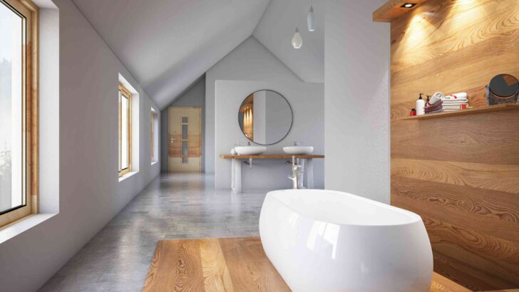 Medium Size of Bodenbelag Im Badezimmer Das Sind Alternativen Zu Fliesen Schmales Regal Küche Mischbatterie Einbauküche Ohne Kühlschrank Kaufen Günstig Läufer Vorhang Wohnzimmer Küche Betonoptik Holzboden