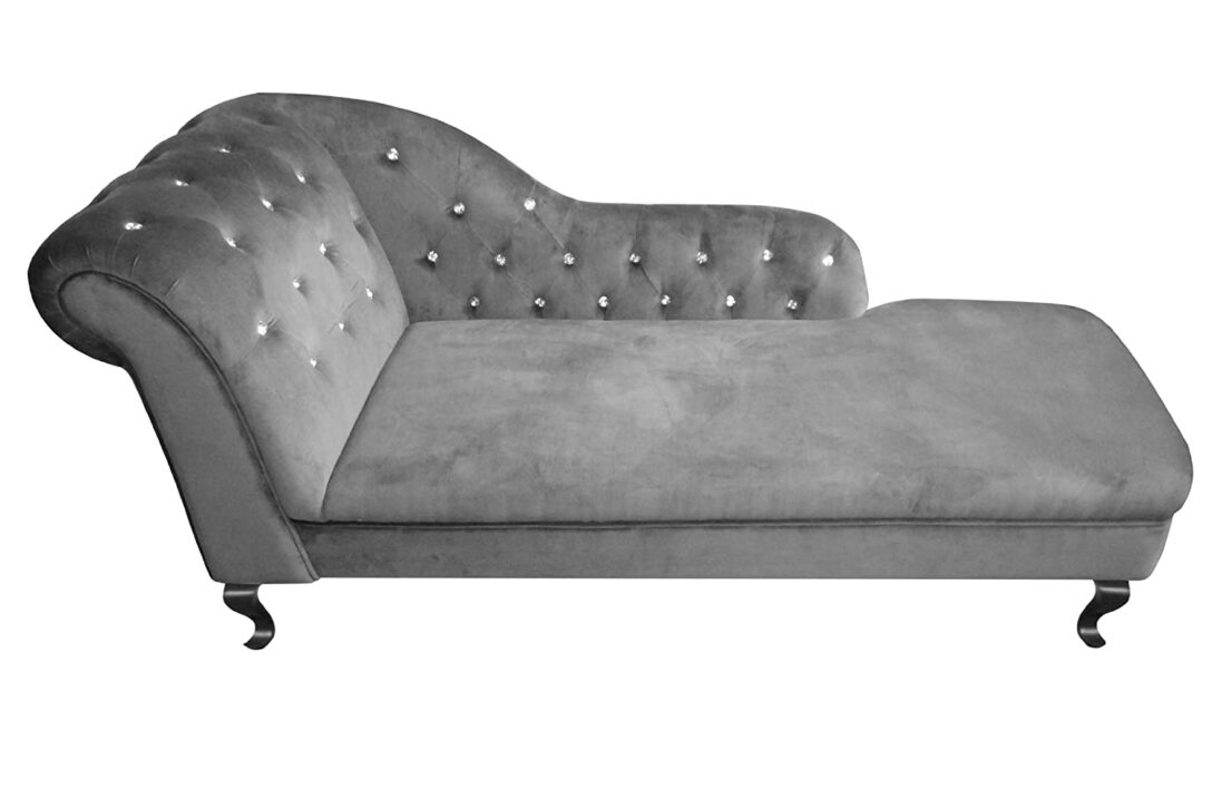 Large Size of Recamiere Samt Modernes Chesterfield Sofa Mit Wohnzimmer Recamiere Samt