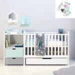 Bopita Belle Bettschublade Hochbett Mit 3 Betten Babybett Kombi Bett Babyflex Wohnzimmer Bopita Bettschublade