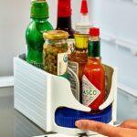 Küchen Aufbewahrungsbehälter Multi Funktionale Doppel Roller Lagerung Boaufbewahrungsbehlter Regal Küche Wohnzimmer Küchen Aufbewahrungsbehälter