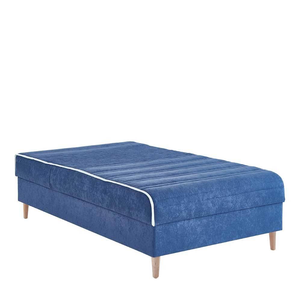 Full Size of Boxspringbett Samt Singele Ennis In Blau 120x200 Cm Pharao24de Schlafzimmer Set Mit Sofa Wohnzimmer Boxspringbett Samt