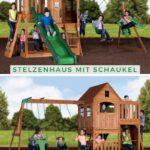 Spielturm Bauhaus Wohnzimmer Hill Crest Stelzenhuser Inkl Schaukels Stelzenhaus Mit Bauhaus Fenster Kinderspielturm Garten Spielturm