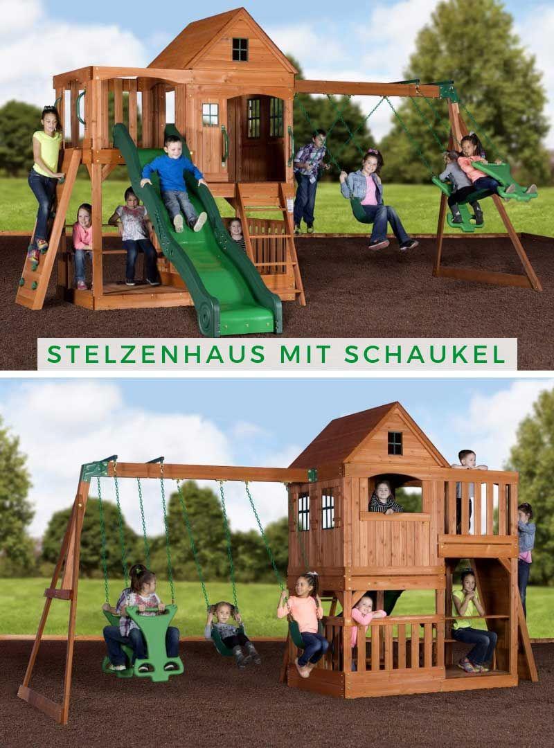 Full Size of Hill Crest Stelzenhuser Inkl Schaukels Stelzenhaus Mit Bauhaus Fenster Kinderspielturm Garten Spielturm Wohnzimmer Spielturm Bauhaus
