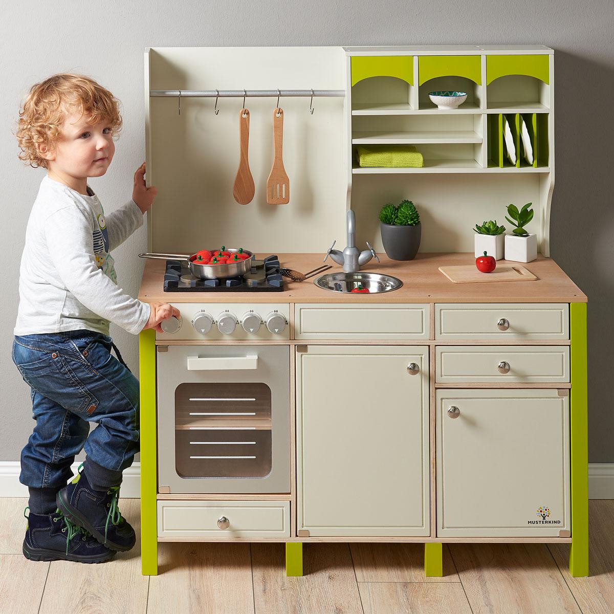 Full Size of Musterkind Spielkche Aus Holz Salvia Creme Grn Kinder Spielküche Wohnzimmer Spielküche