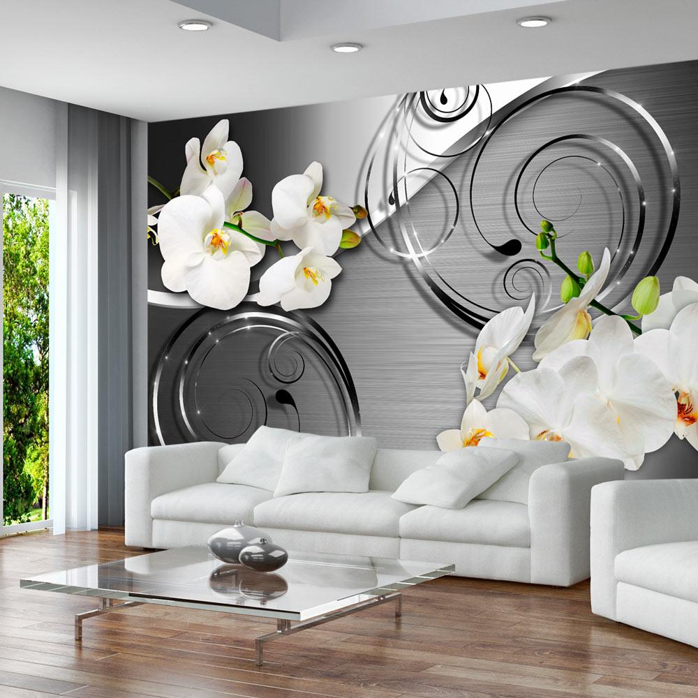 Full Size of Wandbilder Wohnzimmer Modern Xxl Fototapeten Tapete Fototapete Vlies Blumen Orchidee Moderne Esstische Küche Sofa Kleines Wohnwand Bilder U Form Betten Wohnzimmer Wandbilder Wohnzimmer Modern Xxl