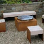 Holzlege Cortenstahl Tische Und Bnke Aus Metall Fr Ihren Garten Wohnzimmer Holzlege Cortenstahl
