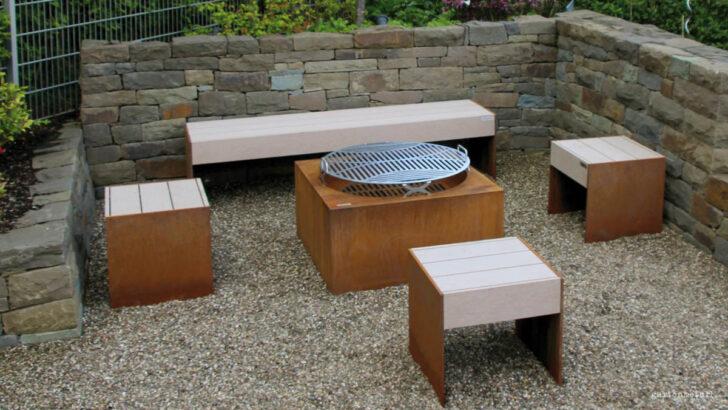 Medium Size of Holzlege Cortenstahl Tische Und Bnke Aus Metall Fr Ihren Garten Wohnzimmer Holzlege Cortenstahl