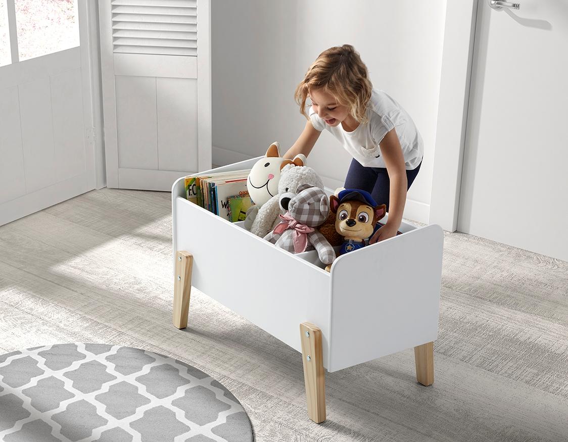 Full Size of Aufbewahrungsbox Kinderzimmer Spielzeugkiste Wei Holz Dinky Online Kaufen Furnart Regale Garten Sofa Regal Weiß Wohnzimmer Aufbewahrungsbox Kinderzimmer