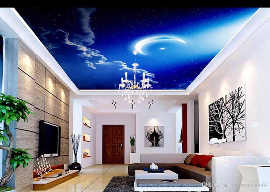 Large Size of Wohnzimmer Himmel Wolken Mond Fr Poster Teppiche Relaxliege Hängeleuchte Liege Led Heizkörper Sofa Kleines Bett Tapete Tischlampe Wohnzimmer Wohnzimmer Decke