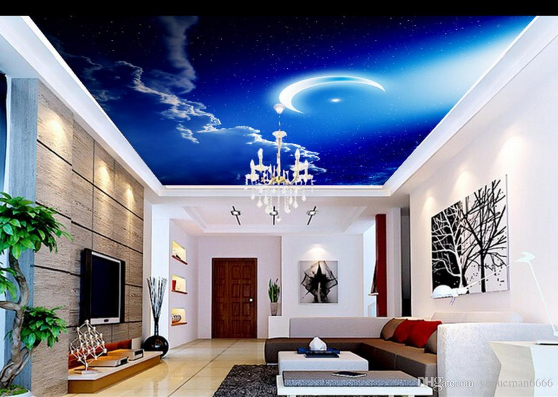 Full Size of Wohnzimmer Himmel Wolken Mond Fr Poster Teppiche Relaxliege Hängeleuchte Liege Led Heizkörper Sofa Kleines Bett Tapete Tischlampe Wohnzimmer Wohnzimmer Decke