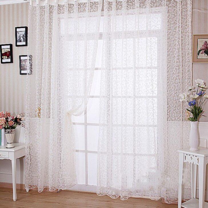Medium Size of Schiere Vorhang Panel Zimmer Vogue Beflockung Floral Gardinen Für Die Küche Wohnzimmer Scheibengardinen Schlafzimmer Fenster Wohnzimmer Gardinen Doppelfenster