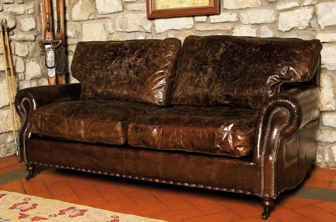 Large Size of Ledersofa Landhausstil 3 Sitzer Sofa In Antikleder Schlafzimmer Weiß Bad Wohnzimmer Boxspring Bett Küche Regal Betten Esstisch Wohnzimmer Ledersofa Landhausstil