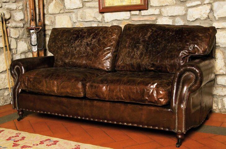 Medium Size of Ledersofa Landhausstil 3 Sitzer Sofa In Antikleder Schlafzimmer Weiß Bad Wohnzimmer Boxspring Bett Küche Regal Betten Esstisch Wohnzimmer Ledersofa Landhausstil