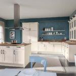 Küche Blau Grau Ideen Fr Kchen Farbgestaltung 11 Bilder Von Farbigen Alno Sitzecke Hängeregal Miniküche Tapete Modern Vorhänge Eckküche Mit Wohnzimmer Küche Blau Grau