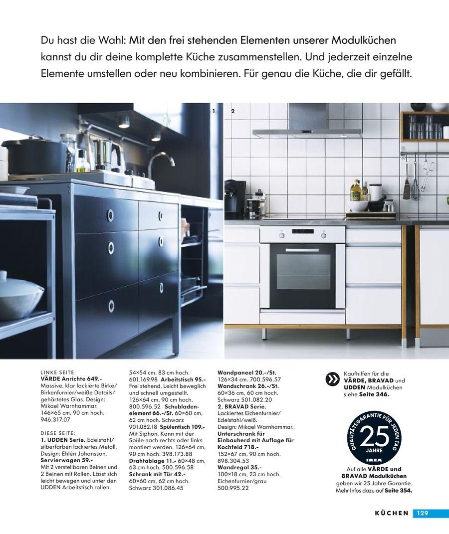 Full Size of Seite 129 Von Ikea Katalog 2009 Sofa Mit Schlaffunktion Modulküche Küche Kosten Holz Kaufen Betten Bei Miniküche 160x200 Wohnzimmer Ikea Modulküche Bravad
