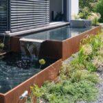 Holzlege Cortenstahl Aqua Linea Brunnensysteme Aus Metall Fr Ihren Garten Wohnzimmer Holzlege Cortenstahl
