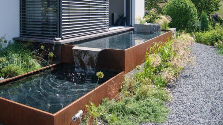 Medium Size of Holzlege Cortenstahl Aqua Linea Brunnensysteme Aus Metall Fr Ihren Garten Wohnzimmer Holzlege Cortenstahl
