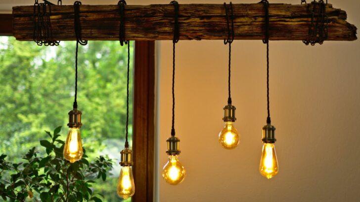 Medium Size of Diy Esszimmer Lampe Bauen Einfach Und Gnstig Balken Deckenlampe Bad Küche Esstisch Industrial Schlafzimmer Deckenlampen Für Wohnzimmer Modern Wohnzimmer Deckenlampe Industrial
