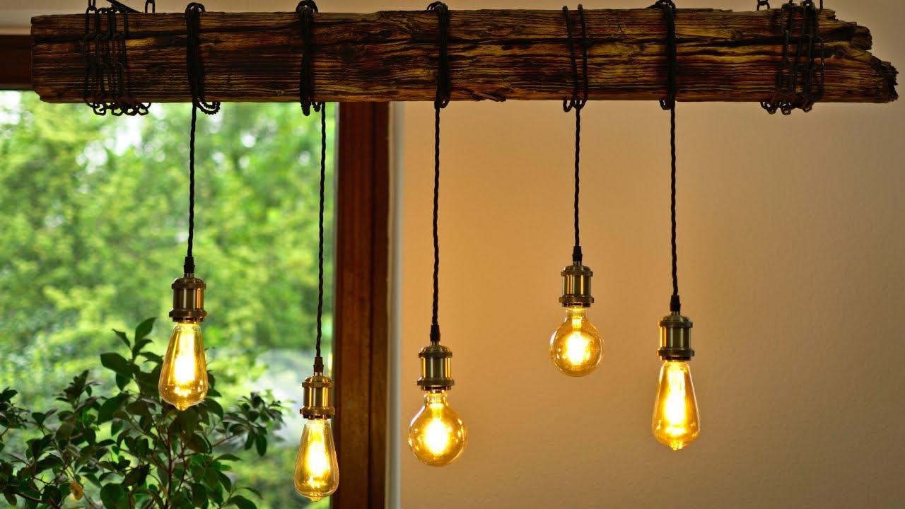 Full Size of Diy Esszimmer Lampe Bauen Einfach Und Gnstig Balken Deckenlampe Bad Küche Esstisch Industrial Schlafzimmer Deckenlampen Für Wohnzimmer Modern Wohnzimmer Deckenlampe Industrial