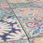 Thumbnail Size of Selbstklebende Fliesen Tapete Lila Bunt Panel 368401 Bad Kosten Bodengleiche Dusche Bodenfliesen Küche Renovieren Ohne Holzfliesen Wandfliesen Badezimmer Wohnzimmer Selbstklebende Fliesen