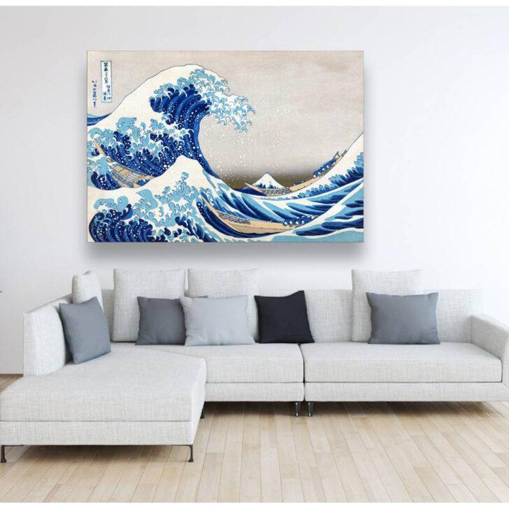 Medium Size of Wohnzimmer Wandbild Leinwand Japanische Kunst The Great Wave Decke Anbauwand Moderne Bilder Fürs Wandbilder Schlafzimmer Deckenstrahler Wandtattoo Wohnzimmer Wohnzimmer Wandbild